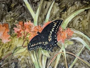 Butterfly in Nature III Digital Print by Lynnsy, B.,Impressionism