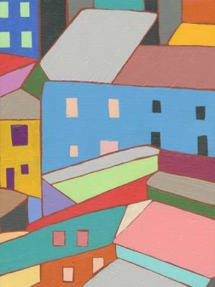 Rooftops in Color I Digital Print by Galapon, Nikki,Expressionism