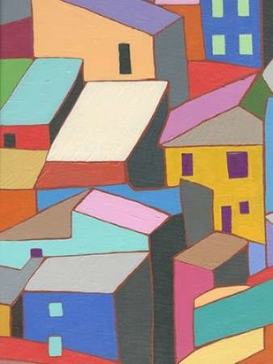 Rooftops in Color II Digital Print by Galapon, Nikki,Expressionism