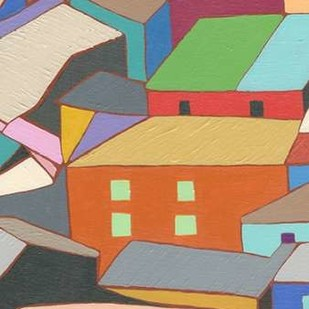 Rooftops in Color III Digital Print by Galapon, Nikki,Expressionism