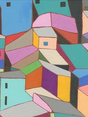Rooftops in Color VIII Digital Print by Galapon, Nikki,Expressionism