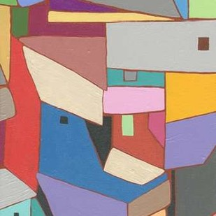 Rooftops in Color X Digital Print by Galapon, Nikki,Expressionism