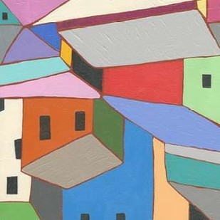 Rooftops in Color XII Digital Print by Galapon, Nikki,Expressionism