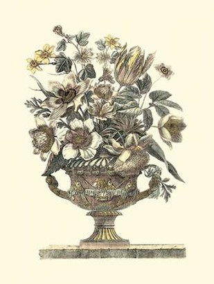 Flowers in an Urn I - Sepia Digital Print by Piranesi, Roy,Decorative