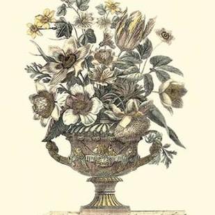 Flowers in an Urn I - Sepia Digital Print by Piranesi, Roy,Decorative