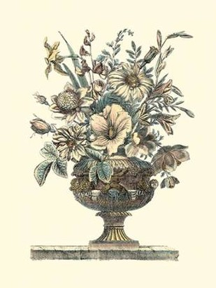 Flowers in an Urn II - Sepia Digital Print by Piranesi, Roy,Decorative