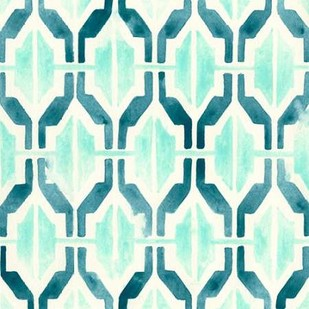 Ocean Tile VI Digital Print by Vess, June Erica,Abstract