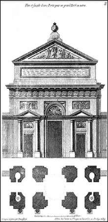 Custom Palace Facade Blueprint I Digital Print by Vision Studio,Illustration