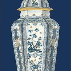 Asian Urn in Blue and White I Digital Print by Vision Studio,Decorative
