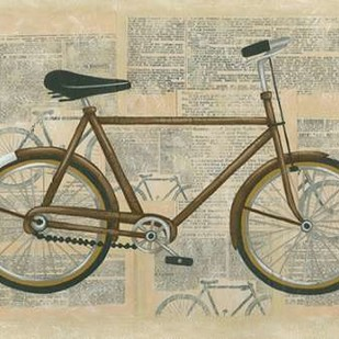 Tour by Bicycle I Digital Print by Zarris, Chariklia,Decorative