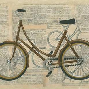 Tour by Bicycle II Digital Print by Zarris, Chariklia,Decorative