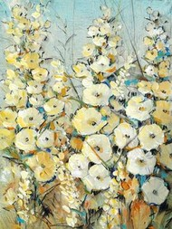 Cluster of Hollyhock I Digital Print by OToole, Tim,Impressionism