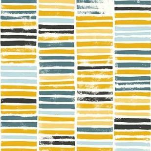 Saffron Block Print I Digital Print by Popp, Grace,Abstract