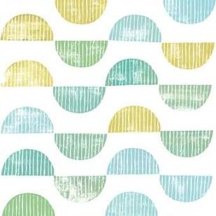 Semi Circle Block Print I Digital Print by Popp, Grace,Decorative