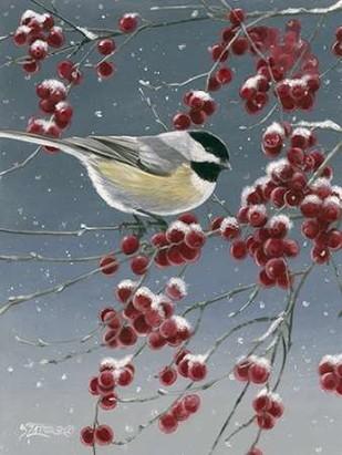 Winter Chickadees I Digital Print by Szatkowski, Fred,Decorative