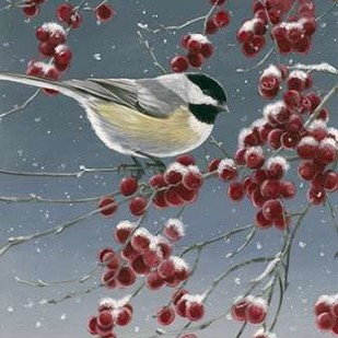 Winter Chickadees I Digital Print by Szatkowski, Fred,Decorative