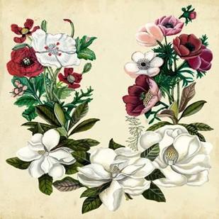 Magnolia and Poppy Wreath II Digital Print by McCavitt, Naomi,Decorative