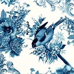 Bird and Branch in Indigo I Digital Print by McCavitt, Naomi,Decorative