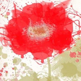 Modern Red Digital Print by Orlov, Irena,Decorative