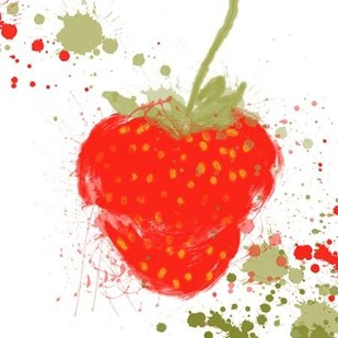 Modern Strawberry Digital Print by Orlov, Irena,Decorative