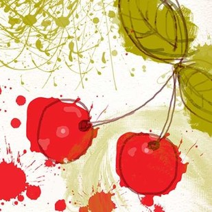 Modern Cherry Digital Print by Orlov, Irena,Decorative