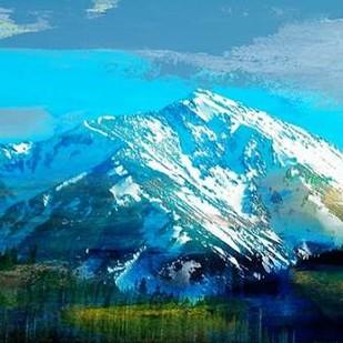 Blue Mountain Digital Print by Jasper, Sisa,Expressionism