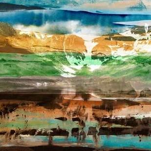 Mountain Abstract II Digital Print by Jasper, Sisa,Abstract
