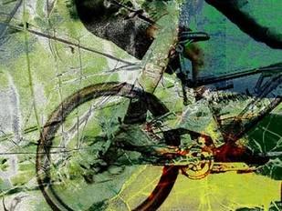 Mountain Bike Digital Print by Jasper, Sisa,Decorative
