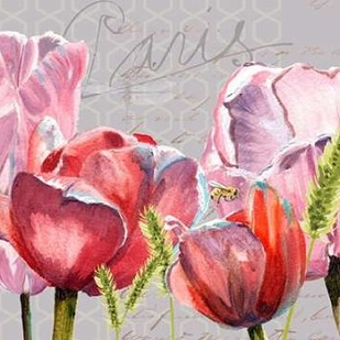 Blush Tulips I Digital Print by Redstreake,Impressionism