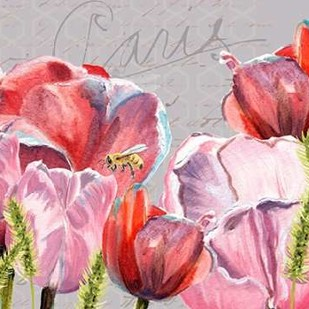 Blush Tulips II Digital Print by Redstreake,Impressionism