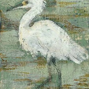 Textured Heron I Digital Print by Goldberger, Jennifer,Impressionism