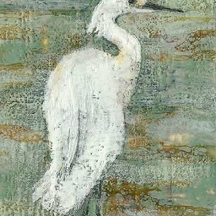 Textured Heron II Digital Print by Goldberger, Jennifer,Impressionism