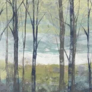 Pastel Birches II Digital Print by Goldberger, Jennifer,Impressionism