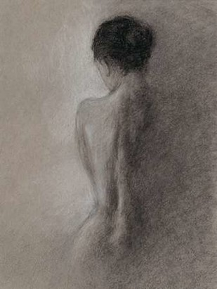 Chiaroscuro Figure Drawing I Digital Print by Harper, Ethan,Impressionism