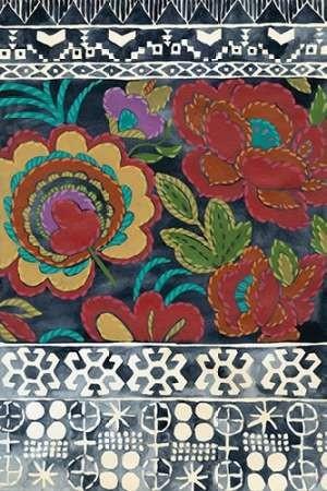 Batik Embroidery I Digital Print by Zarris, Chariklia,Decorative