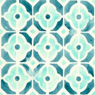 Ocean Tile II Digital Print by Vess, June Erica,Abstract