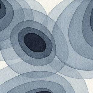 Indigo Ovals I Digital Print by Galapon, Nikki,Abstract