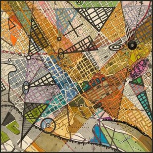 Modern Map of D.C. Digital Print by Galapon, Nikki,Geometrical