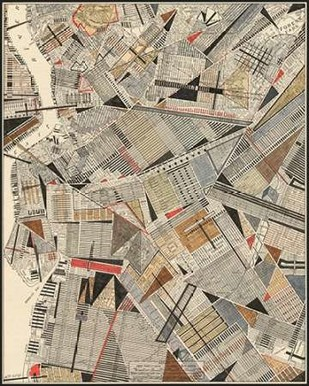 Modern Map of Brooklyn Digital Print by Galapon, Nikki,Geometrical