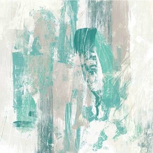 Teal Fog II Digital Print by Vess, June Erica,Abstract