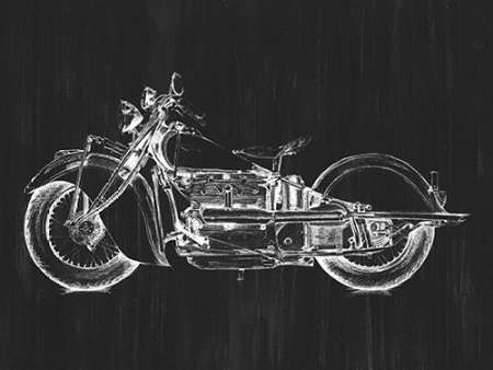 Motorcycle Graphic I Digital Print by Meagher, Megan,Decorative