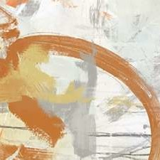 Tangerine and Grey I Digital Print by Vess, June Erica,Abstract