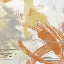 Tangerine and Grey II Digital Print by Vess, June Erica,Abstract