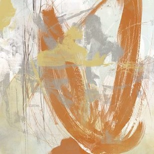 Tangerine and Grey III Digital Print by Vess, June Erica,Abstract