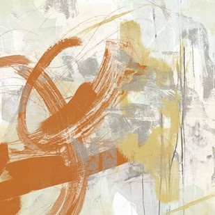Tangerine and Grey IV Digital Print by Vess, June Erica,Abstract