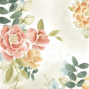 Soft Flower Collection I Digital Print by Vess, June Erica,Decorative