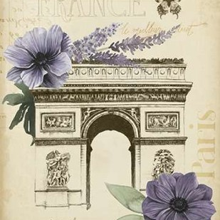 Paris Ephemera I Digital Print by Popp, Grace,Decorative