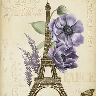 Paris Ephemera II Digital Print by Popp, Grace,Decorative