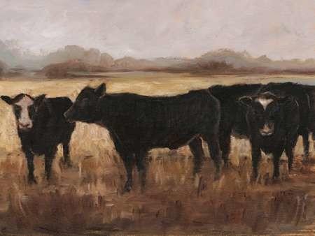 Black Cows I Digital Print by Harper, Ethan,Impressionism