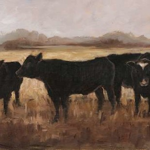 Black Cows I Digital Print by Harper, Ethan,Impressionism